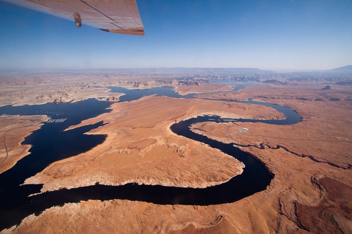 Lake Powell aerial. Photo by Mitch Tobin