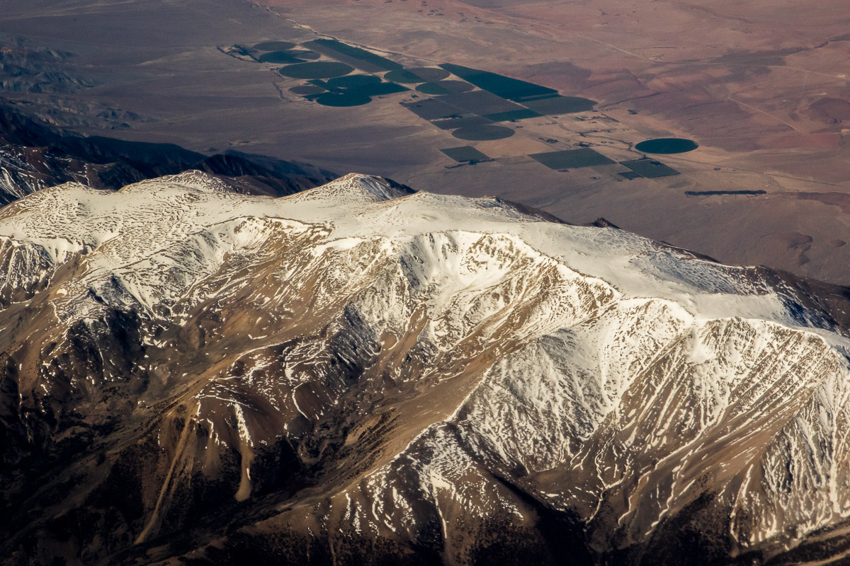 Snowpack and agriculture aerial. Photo by Mitch Tobin.