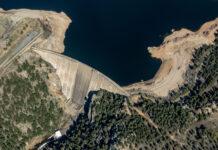 Gross Dam aerial. Photo by Mitch Tobin