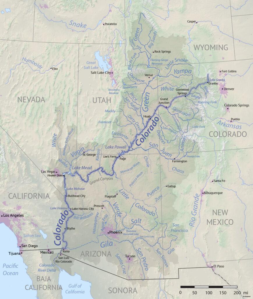 Colorado River Basin Map Wikipedia