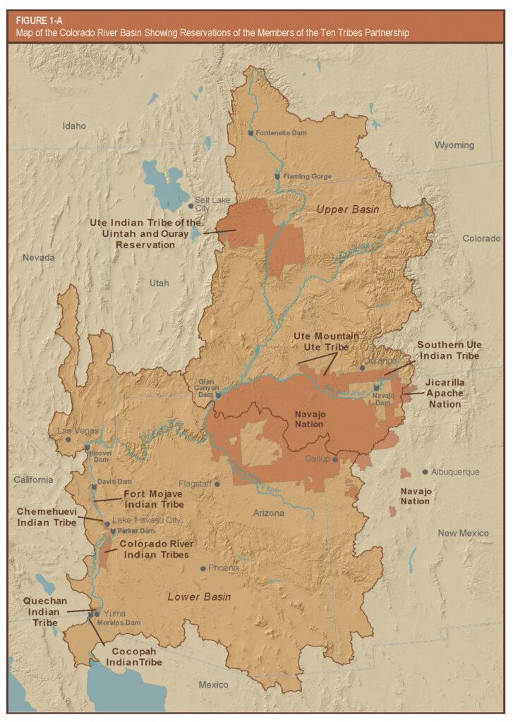 Map of Ten Tribes Partnership of Colorado River Basin