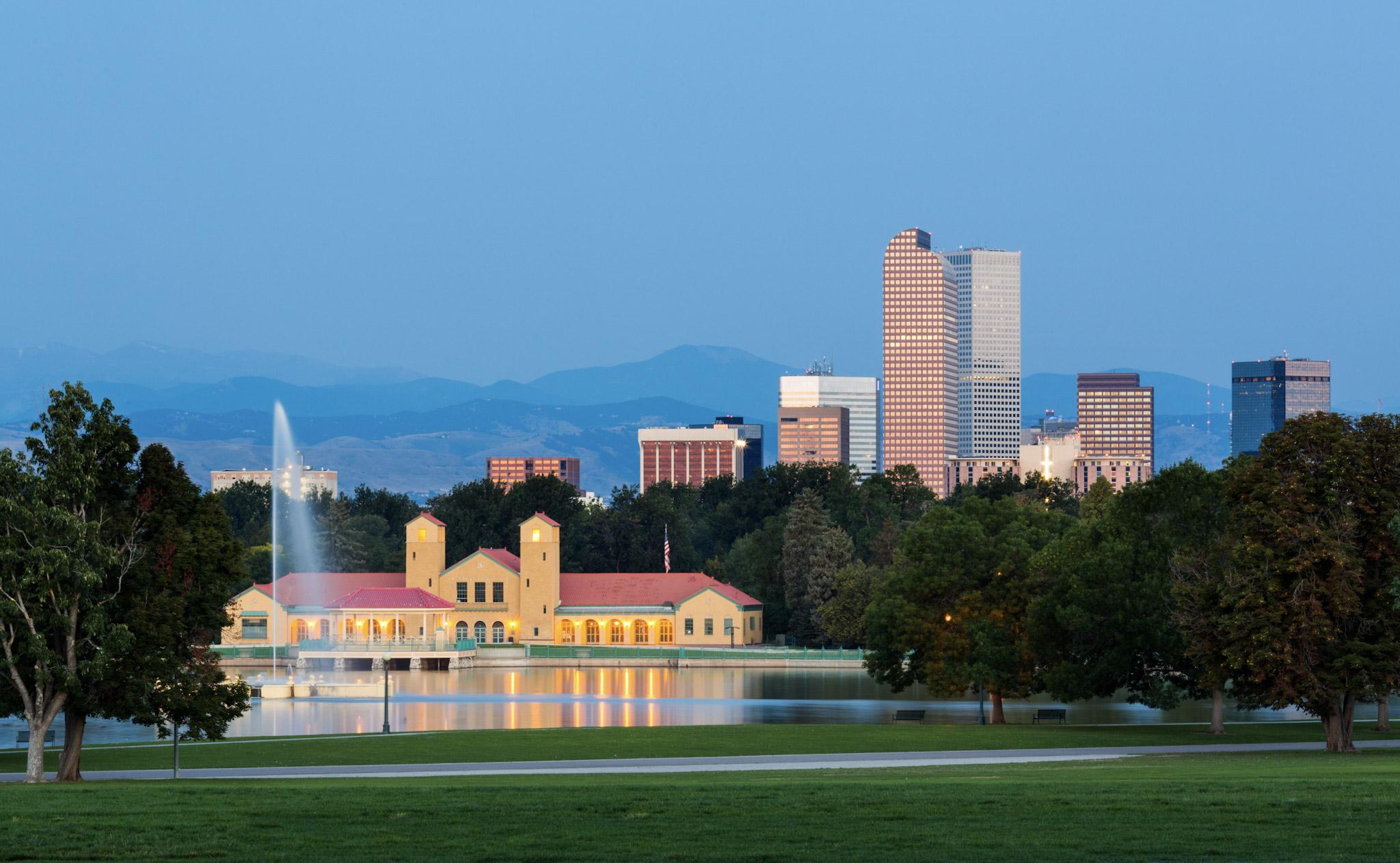 Denver skyline photo. Source: Adobe Stock