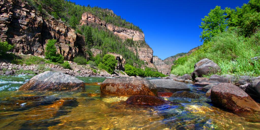 Colorado River flows through the White River National Forest. Photo: Adobe Stock.