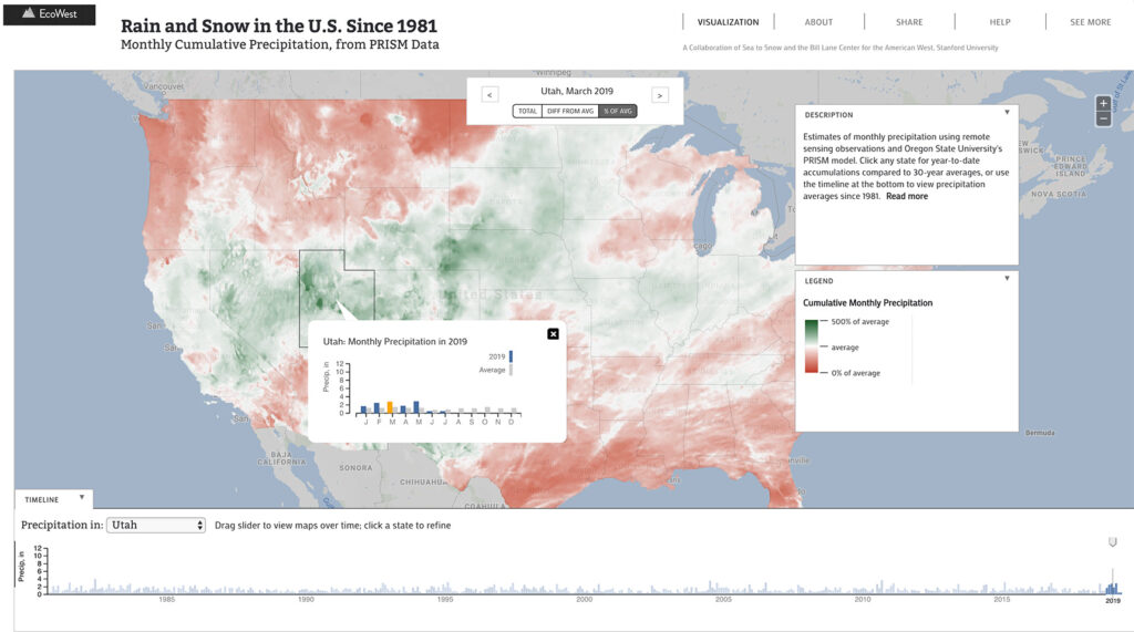 rain and snow dashboard map