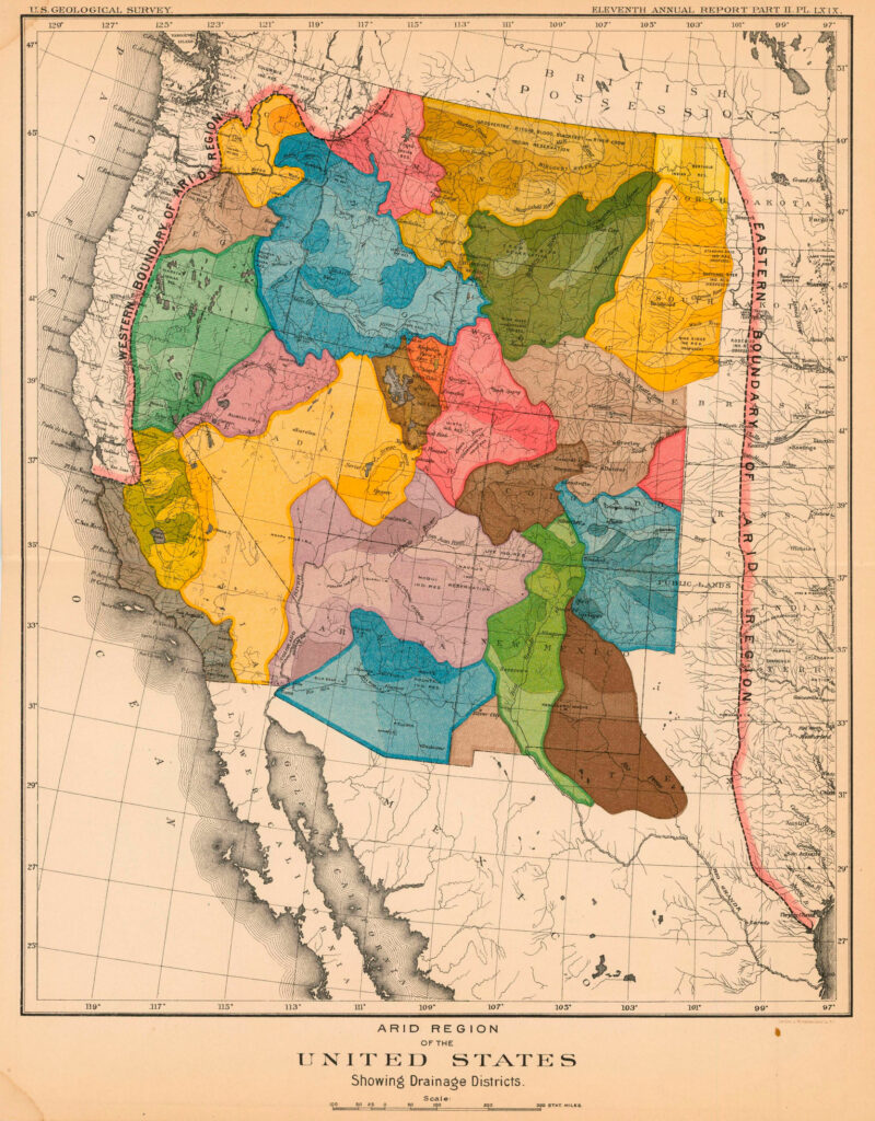 Powell Western water map