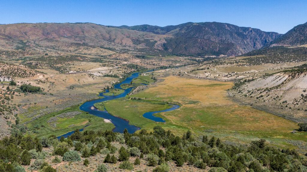 Looking upstream at the Colorado River, near Radium