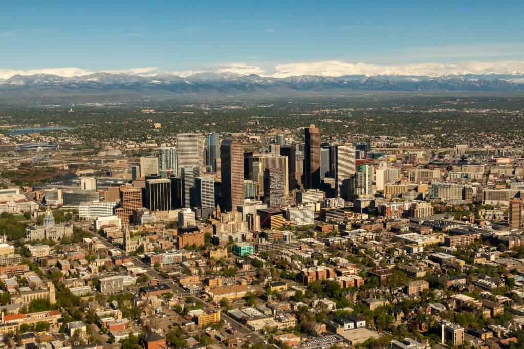 Downtown Denver aerial photo