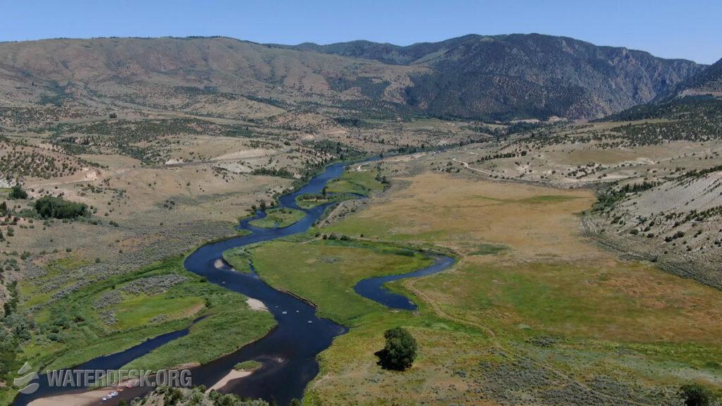 Colorado River drone photo