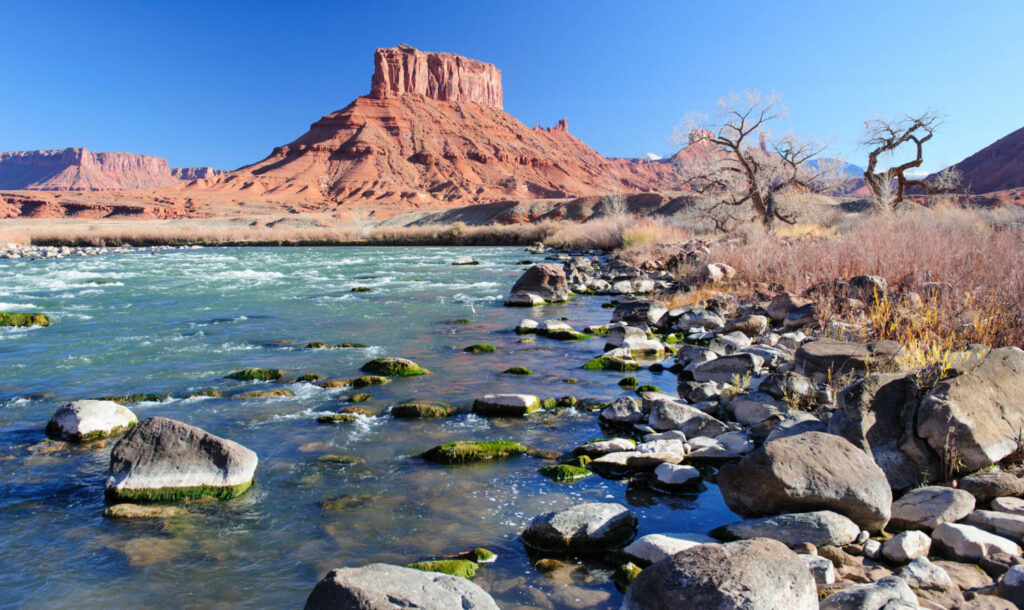The Colorado flows through Castle Valley, near Moab, Utah.