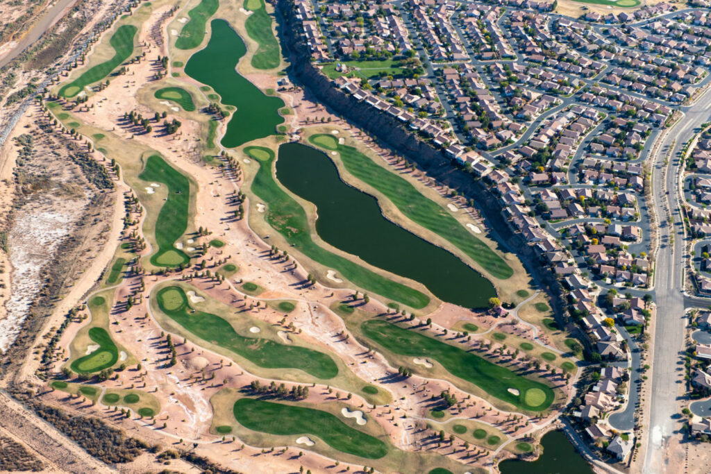 St. George, Utah is growing rapidly, with golf courses and subdivisions pushing into the desert. The city is seeking to build a new pipeline that would draw more Colorado River water from drought-stressed Lake Powell. PHOTO BY TED WOOD