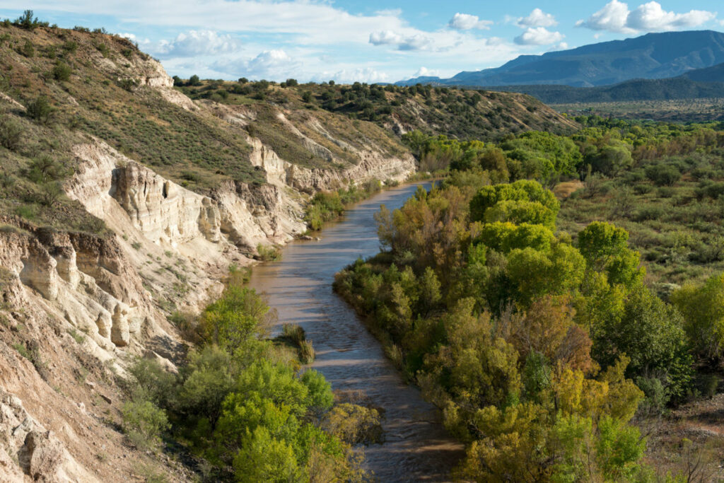 The Verde River is a perennial desert river supplied by mountain springs in Arizona's central highlands. It is a critical water source for the Phoenix metropolitan region, home to 4.7 million people.