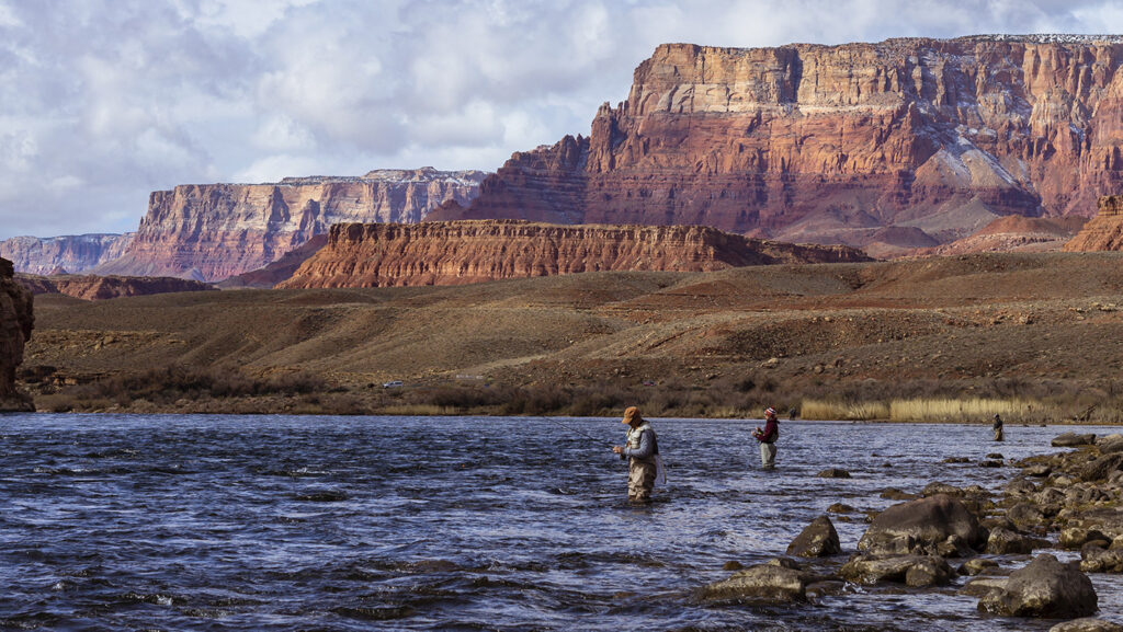 Anglers on the Colorado River, near Lees Ferry, Arizona. Source: Adobe Stock