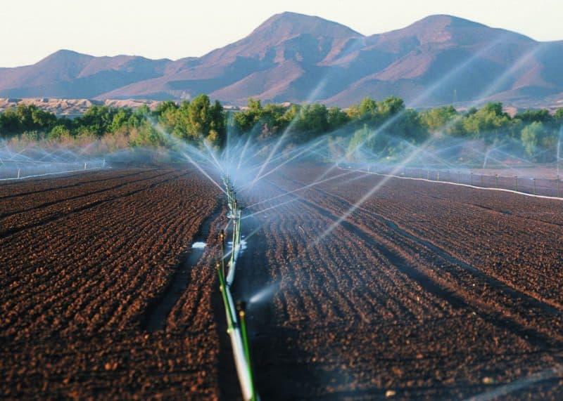 Crop irrigation in Yuma, Arizona. (Jeff Vanuga/U.S. Department of Agriculture)