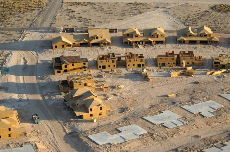 A subdivision under construction in Nevada. (Kenneth Kennemer/U.S. Air Force)
