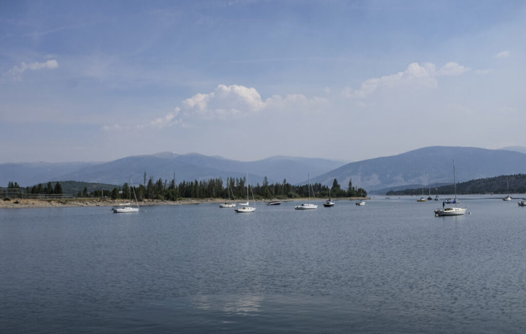 Sailboats on Dillon Reservoir