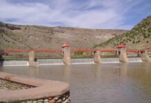 The Roller Dam on the Colorado River west of Glenwood Springs.