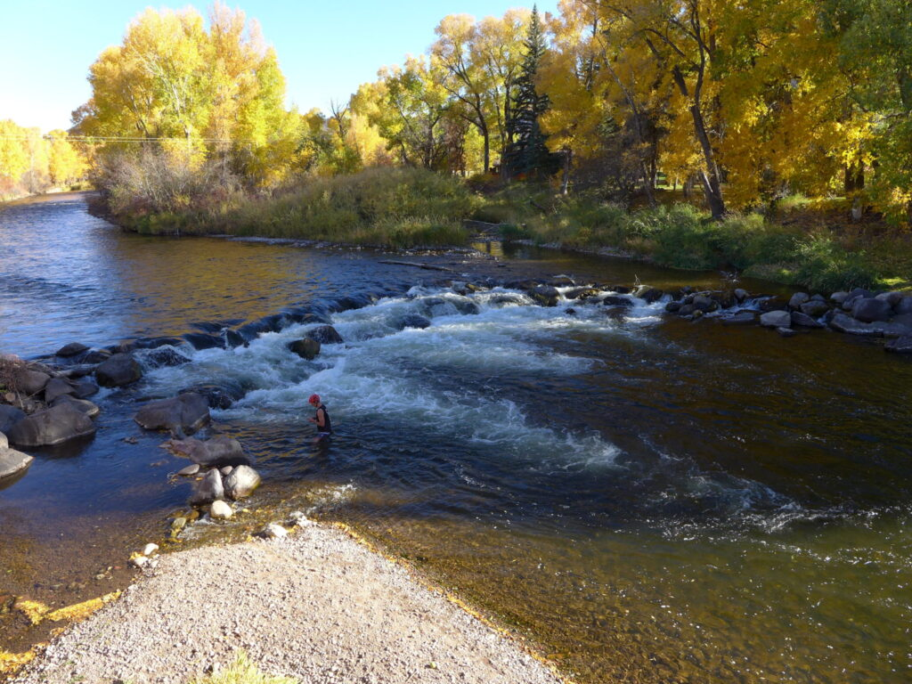 "Roaring Fork River near Hooks Spur Bridge. Water year 2020, which ended Oct. 1, was a ""miserable year from a hydrology perspective,"" said Colorado River Water Conservation District General Manager Andy Mueller."