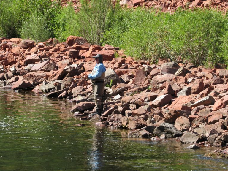 An angler casts a line on the Roaring Fork River upstream of Basalt in Pitkin County. West Slope voters said yes to millions in new taxes for the Colorado River District.