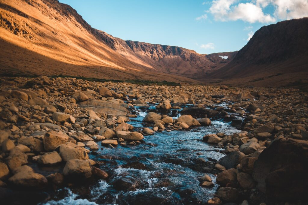 A stream in the Rocky Mountains. Photo by Erik Mclean on Unsplash