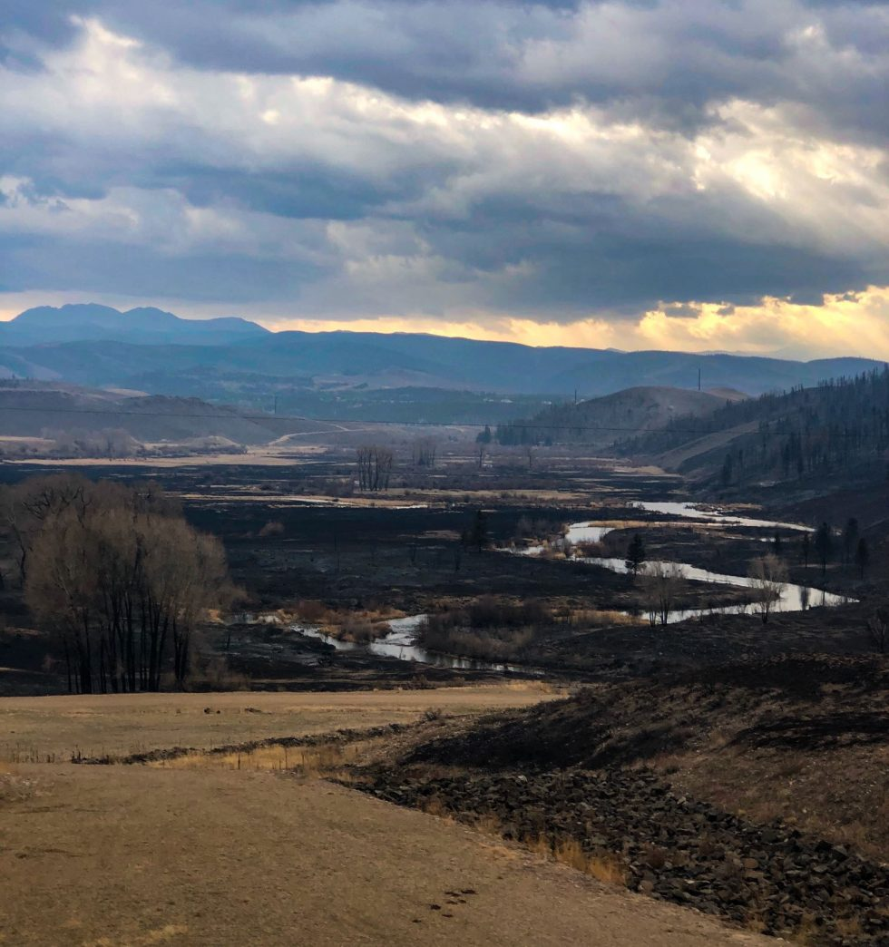 Rocky Mountain National Park burn photo