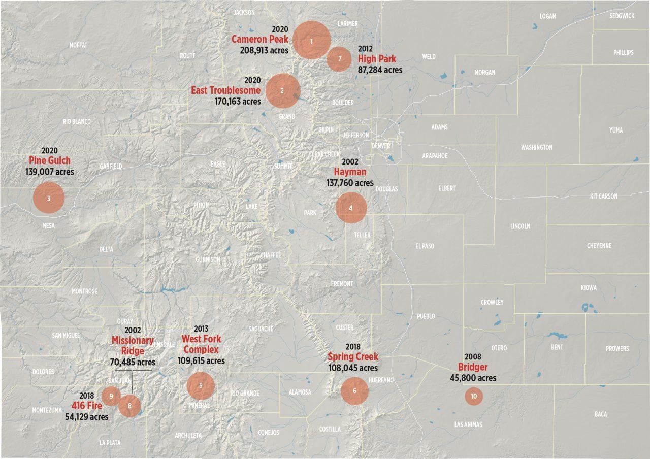 Colorado fire map