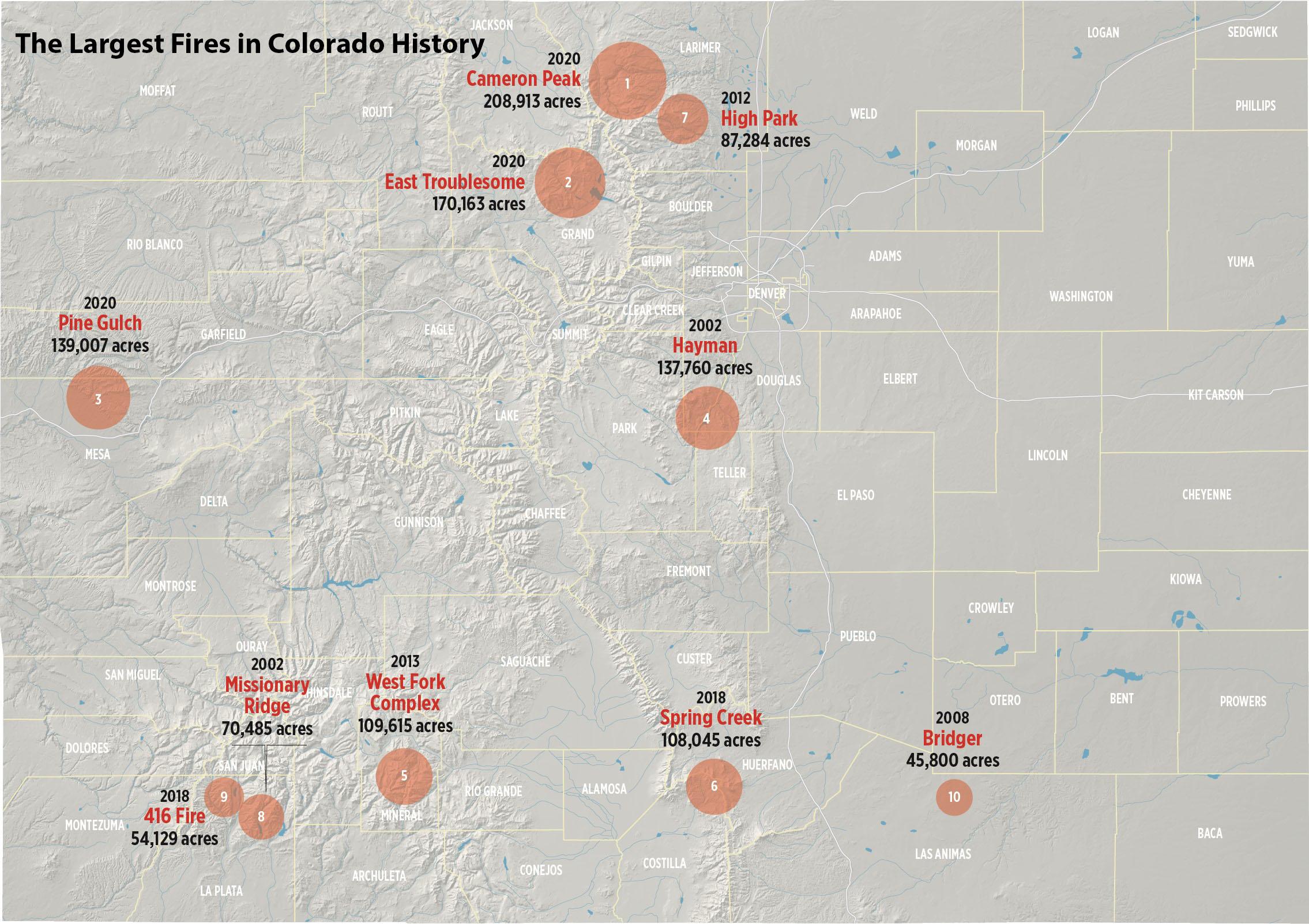 Colorado Fires Map