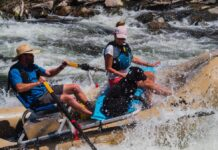 Rafters on the Gunnison River photo