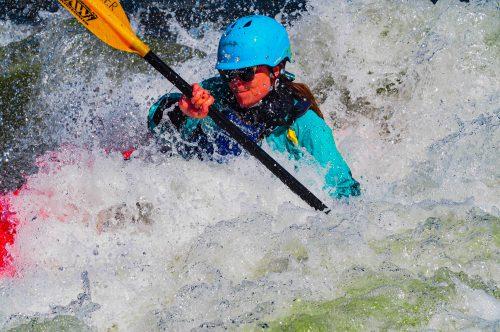Kayaker on the Gunnison River photo
