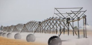 Center pivot irrigation photo