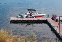 Boaters at Cedar Springs Marina photo