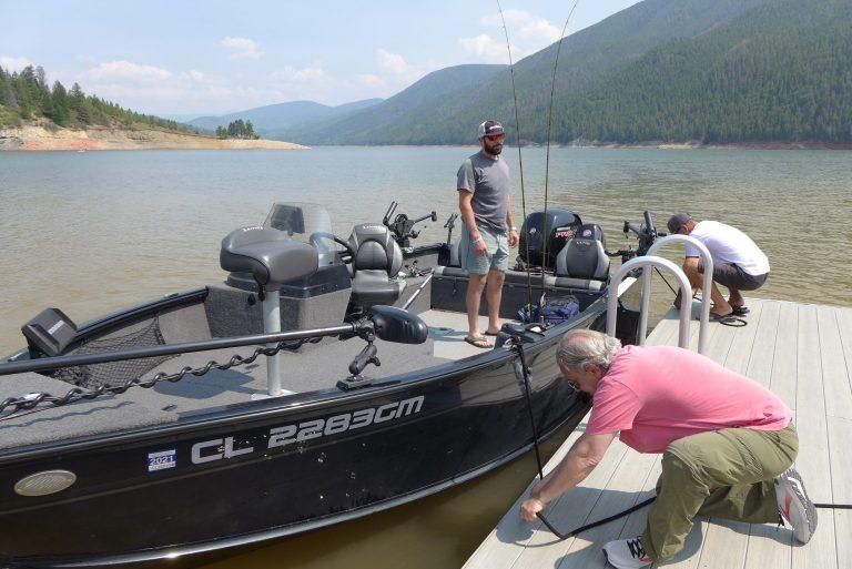 Anglers at Ruedi Reservoir photo