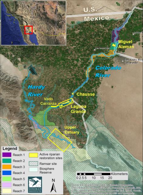 Habitat restoration map