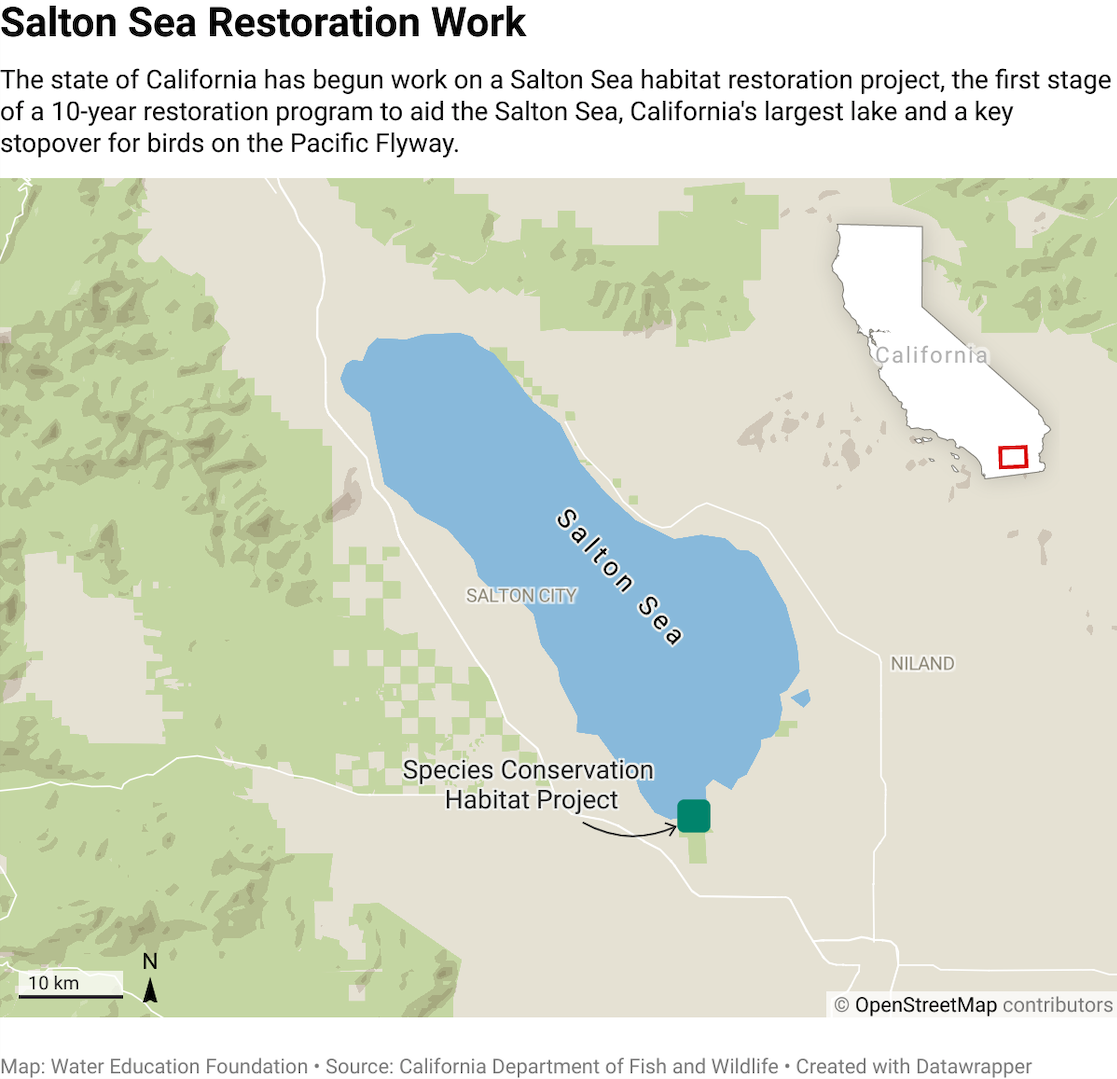Salton Sea restoration map