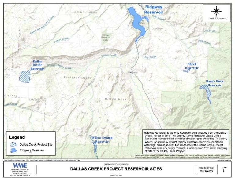Potential map for Ram's Horn Reservoir