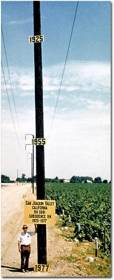 Subsidence rate photo